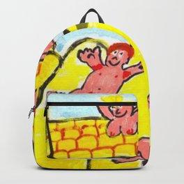 Pink People On Bouncy Castle Backpack