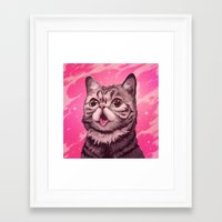 lil bub Framed Art Prints featuring Fantasy in BUB Minor by Noelle McClanahan