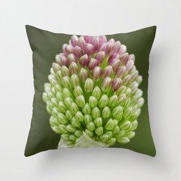 Drumstick Allium Throw Pillow