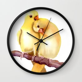 Two Parrots Wall Clock