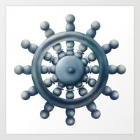 Ship Wheel Art Print