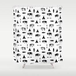 Buffalo Tribe Shower Curtain