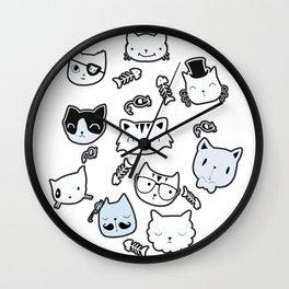 cat gangs Wall Clock