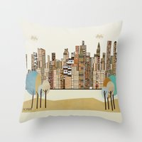montreal Throw Pillows featuring montreal by bri.buckley