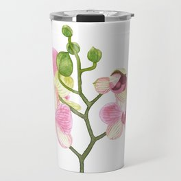 Pink Orchid Travel Mug