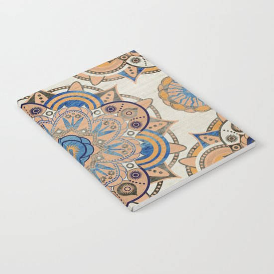 Blue and Gold Mandala Notebook