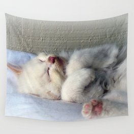 Sleepy Kitten Wall Tapestry