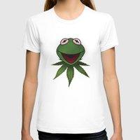 kermit T-shirts featuring Stoner Kermit The Frog  by Jonathan T. Burton