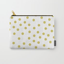 Simply Dots in Mod Yellow on White Carry-All Pouch