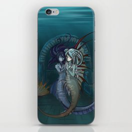 Fantasy style Anime / Manga mermaids iPhone Skin
