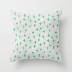 Catctus Inverted Space Throw Pillow