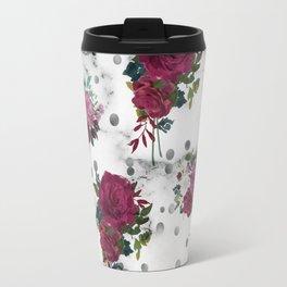 marble and roses Travel Mug