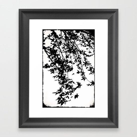black on white Framed Art Print