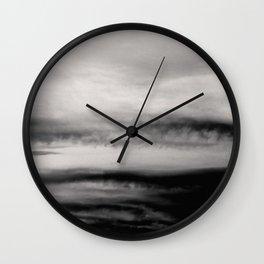 WHITE & BLACK TOUCHING #2 #abstract #decor #art #society6 Wall Clock