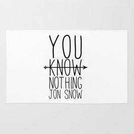 You know nothing Jon.Snow Rug