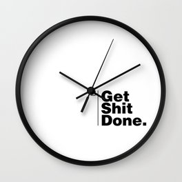 Get Shit Done - Inverse Wall Clock