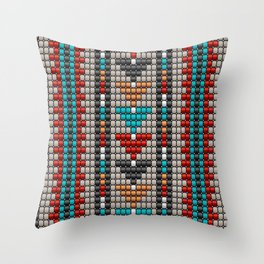 Stitched colorful aztec motif pattern Throw Pillow