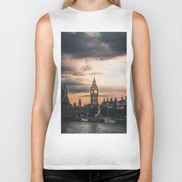 London England Cityscape (Color) Biker Tank