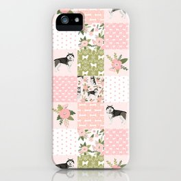 Alaskan Malamute quilt cheater home decor dog gifts by pet friendly iPhone Case