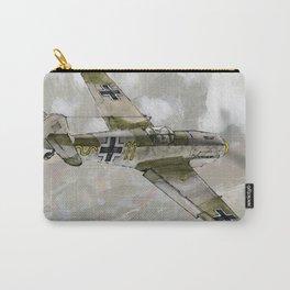 Bf 109E Messerschmitt by Dennis Weber of ShreddyStudio Carry-All Pouch