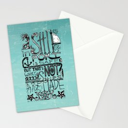 A Ship in Port Stationery Cards