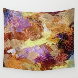 Abstract Pineapples Wall Tapestry