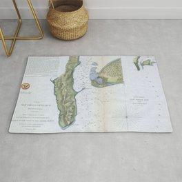 Vintage Map of San Diego & Coronado (1853) Rug