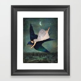 fly me to paris Framed Art Print