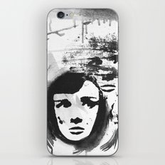 Audrey on a stencil iPhone & iPod Skin