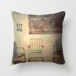 Sit Beside Me Throw Pillow
