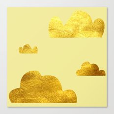 Gold clouds yellow Canvas Print