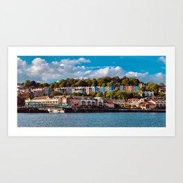 Coloured Houses on the Sea Art Print