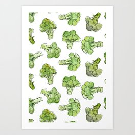 Broccoli - Scattered Art Print