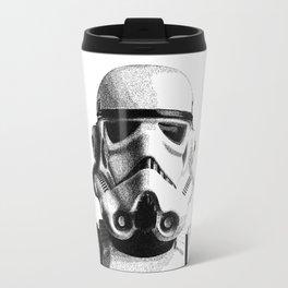 Stormtrooper Dotwork - Pointillism Fan Artwork Travel Mug