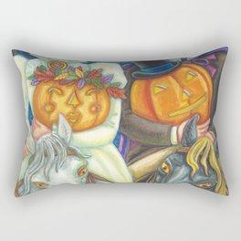 SLEEPY HOLLOW WEDDING - Brack Headless Horseman Halloween Art Rectangular Pillow
