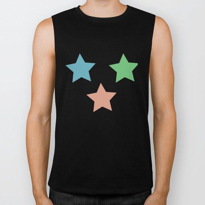 Colorful Stars Biker Tank