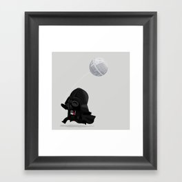 Beware, the Darth Star Framed Art Print