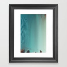 Under glitch sea  Framed Art Print