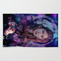 amy pond Area & Throw Rugs featuring Amy Pond by Sirenphotos
