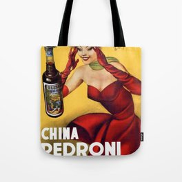 Vintage China Pedroni Advertising Wall Art Tote Bag