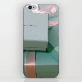 Pile of Boxes Tiffany Blue Style iPhone Skin