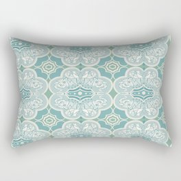 Turquoise Elephant Pattern Rectangular Pillow