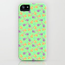 Freely Birds Flying - Fly Away Version 2 - Chartreuse Color iPhone Case