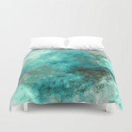 Turquoise Green Marble Abstract Duvet Cover