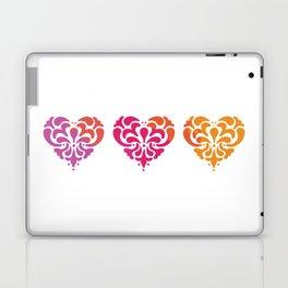Rainbow Watercolor Damask Heart Laptop & iPad Skin