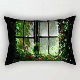 Secret garden window Rectangular Pillow