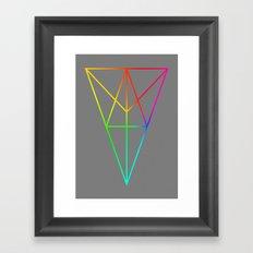 Rainbow Geometry Framed Art Print