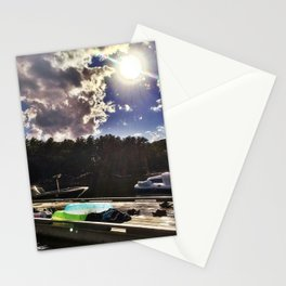 Perfect Summer Day on Lake Pemaquid, Maine Stationery Cards