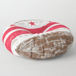 Washington D.C. Flag on Brick District of Columbia Standard Floor Pillow