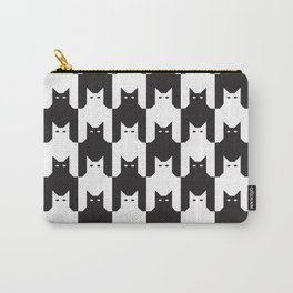 Cats Dog Tooth Pattern Carry-All Pouch